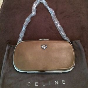 Celine leather clutch on Poshmark