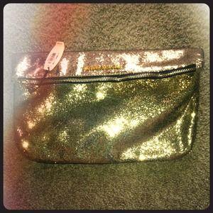 Victoria Secret sequin golden handbag