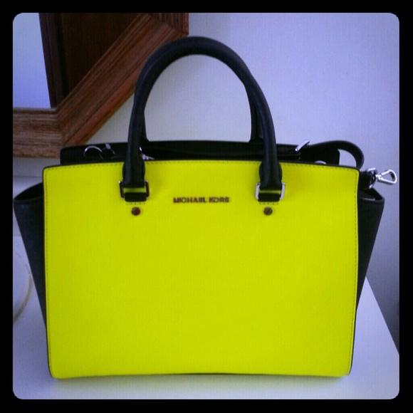 28154e438ae8 Michael Kors Bags | Authentic Neon Colorblock Selma Bag | Poshmark