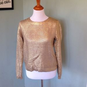 H&M Tops - H & M gold coated sweater
