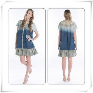 Ocean wave shirt dress