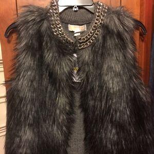 Michael kors Derby faux fur vest (derby) gray