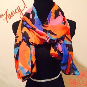 Accessories - NEW Sheer Splash Watercolor Horse Print Scarf