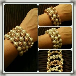 Accessories - Stacked Pearl Bracelet