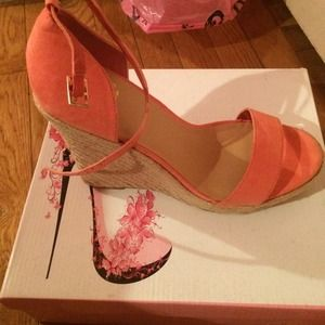 Colin Stuart Shoes - Coral wedge