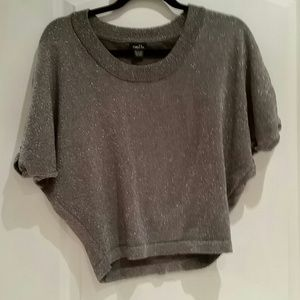 Silver shiny cropped sweater