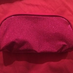 Sparkly pink make up bag