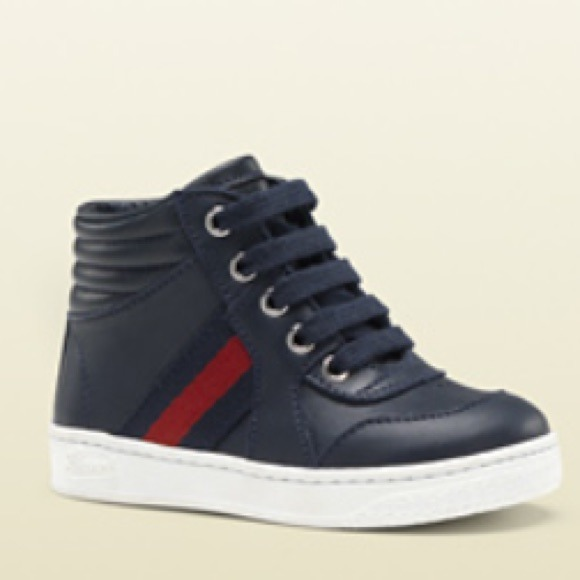 861665bc2906 Gucci Other - Authentic toddler navy blue gucci sneakers