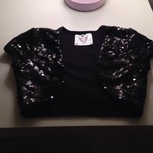 Outerwear - Little girls sequin cover up top size 6X