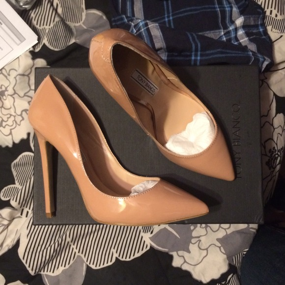 506f83d41d Tony Bianco Shoes | Leola Nude Patent Leather Heels | Poshmark