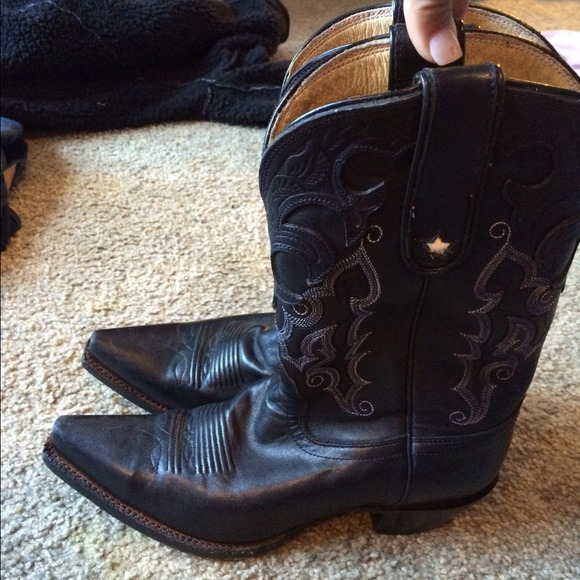fd5bb419387 Tony Loma women's black leather cowgirl boots