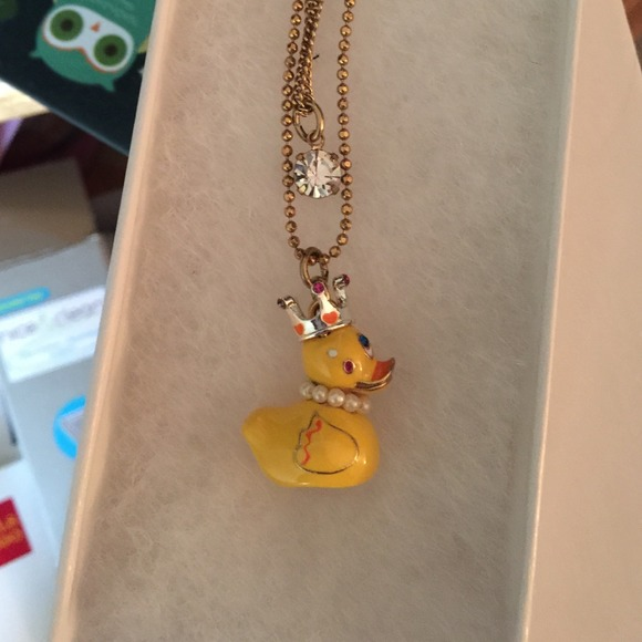 Betsey Johnson Accessories | Duck Necklace | Poshmark