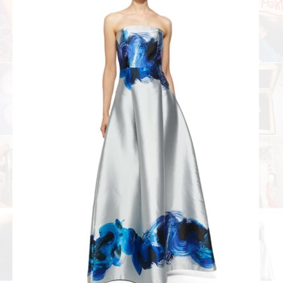 Sachin Babi Dresses Noir Sachin Babi Astor Strapless Swirl Gown