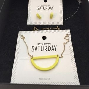 Kate spade brand new necklace and earring set