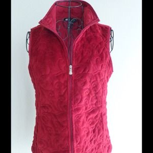 Carole Little Red Quilted Vest