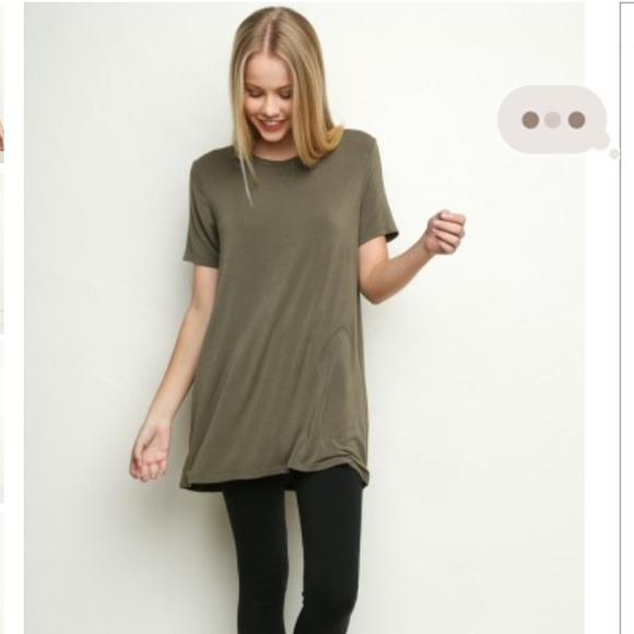 Brandy Melville - Green T-Shirt Dress Luana Dress from Leah's ...