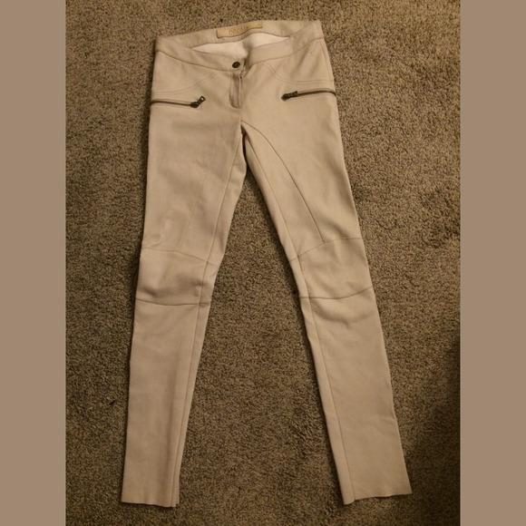 eef1bd39543 Drome Pants | Sale Ivory Leather | Poshmark