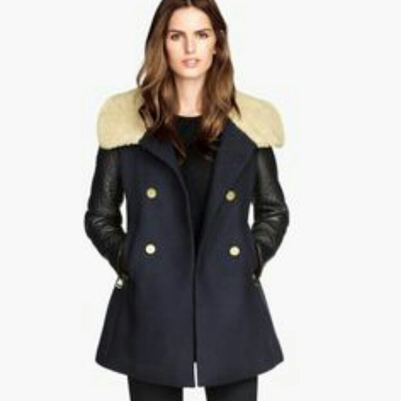 Coat/faux Leather Sleeve