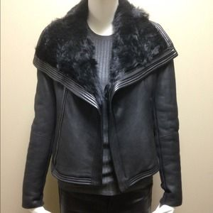 68 Off Vince Outerwear Vince Leather Linen Asymmetrical