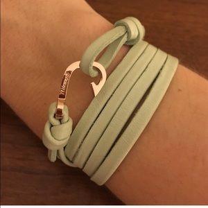 Miansai Jewelry - Miansai Mini Rose Gold Hook Mint Leather Bracelet