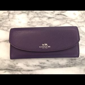 Cpack slim envelope wallet with coach logo pouch