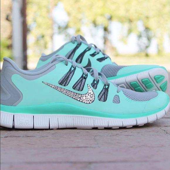 Nike Shoes - Customized Swarovski Nike free 5.0 size 6.5 7c9f3c3491a9