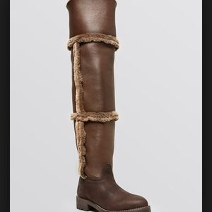 BRAND NEW Tory Burch talouse high shearling boot