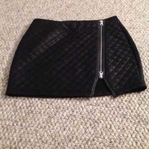 Express Black Mini Skirt