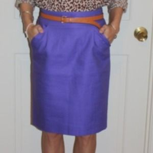Jcrew purple pencil skirt