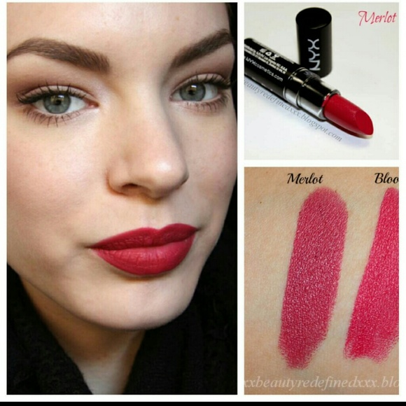 100 Off Nyx Other Nyx Matte Lipstick In Merlot Mls16