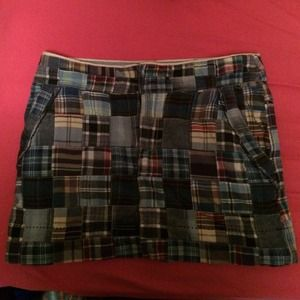 American eagle plaid patch skirt