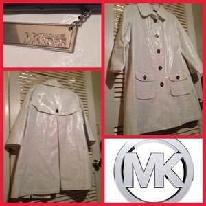 Reduced! White Michael Kors Rain Coat