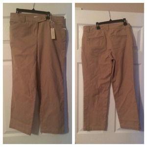 NWT jones New York stretch khaki pants size 4