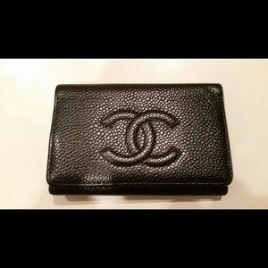 Chanel Black Caviar Key Case