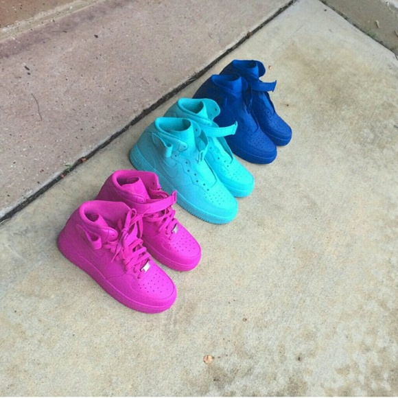 Nike Baby Shoes Pink Purple Black Hi Tops