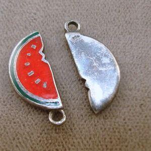 Jewelry - 🍉Sterling Enamel Watermelon Charm🍉