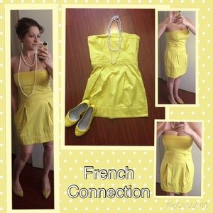 French Connection Dresses & Skirts - NWOT Strapless yellow FC dress