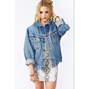 Oversized denim jacket forever 21