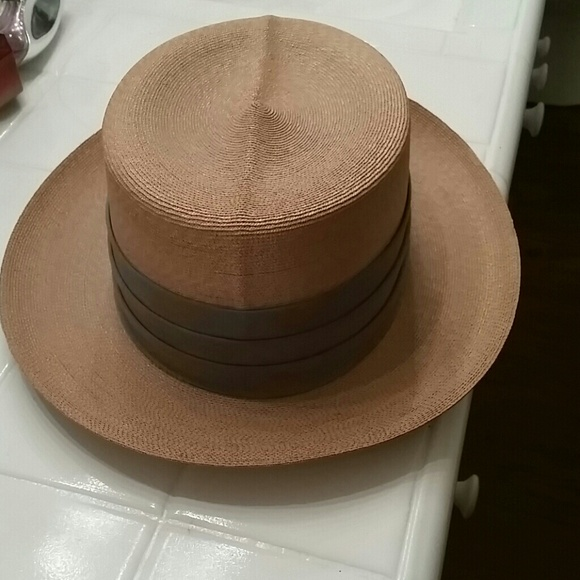 dobbs Accessories - Vintage Dobbs fifth Avenue New York Straw hat 07aed826d333
