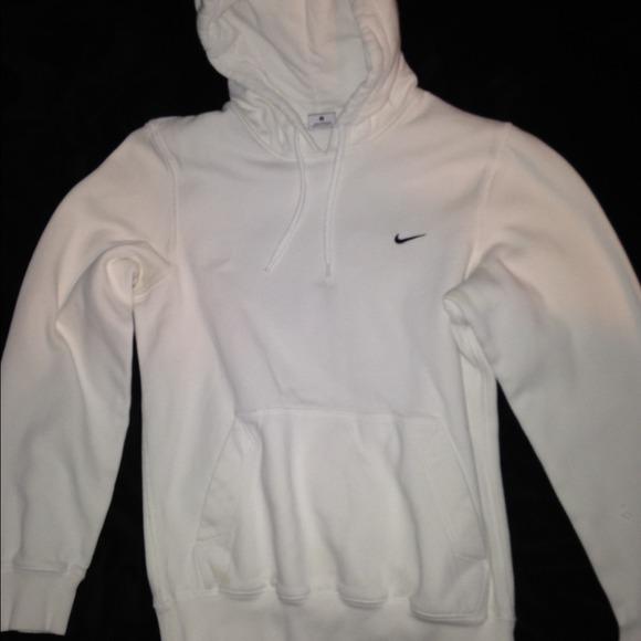 white nike hoodie mens