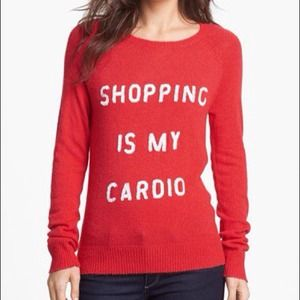 "Wildfox Tops - Wildfox ""Shopping Is My Cardio"" Knit"