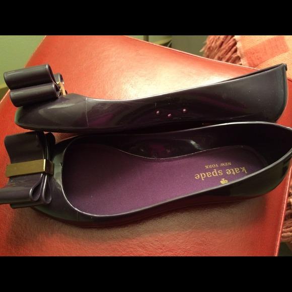 Kate Spade Purple Jelly Ballet Flats