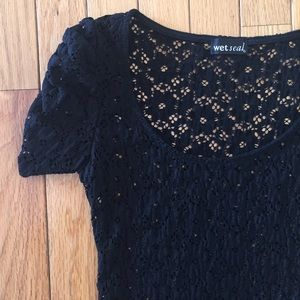 Wet Seal Tops - Small black lace top