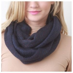Accessories - Metallic Navy Infinity Scarf