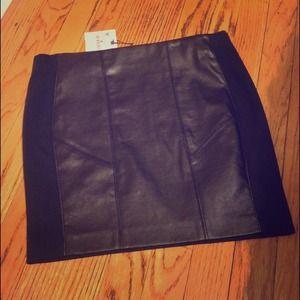 Zara faux leather panel mini skirt
