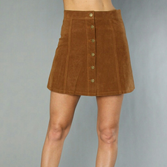 Leather Suede Skirt - Dress Ala