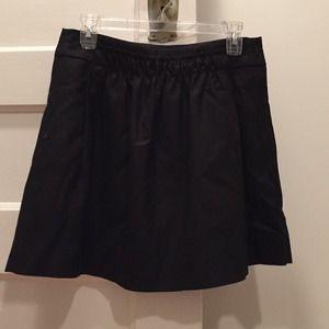 Jcrew black mini skirt