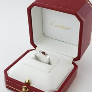 18k white gold authentic Cartier love ring reduced