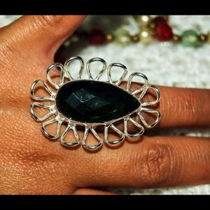 handmade & handcrafted gemstone jewelry Jewelry - 💥Sale💥 Oversize Statement Ring Size 6.75