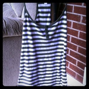 Old Navy olive/white racer back tank